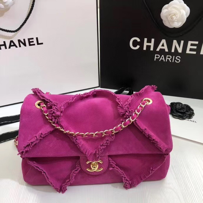 Chanel Flap Bag Original Chamois AS1502 rose