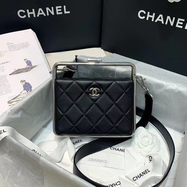 Chanel Original Sheepskin Leather clutch bag AS1732 black