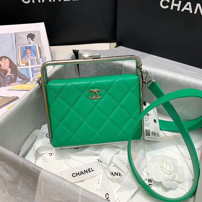 Chanel Original Sheepskin Leather clutch bag AS1732 green