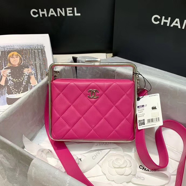 Chanel Original Sheepskin Leather clutch bag AS1732 rose
