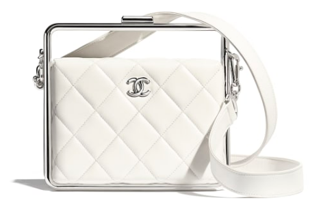 Chanel Original Sheepskin Leather clutch bag AS1732 white