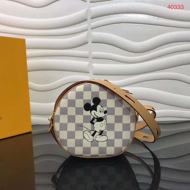 Louis Vuitton Damier Azur Canvas BOITE CHAPEAU SOUPLE Disney x Mickey Mouse N40333