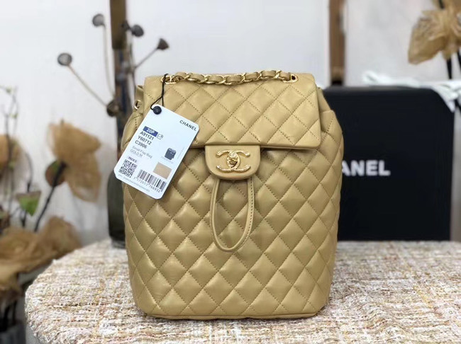 Chanel Backpack Sheepskin Original Leather 83431 gold