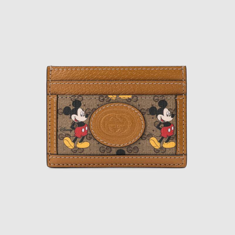 Gucci Disney x card case 602535 brown