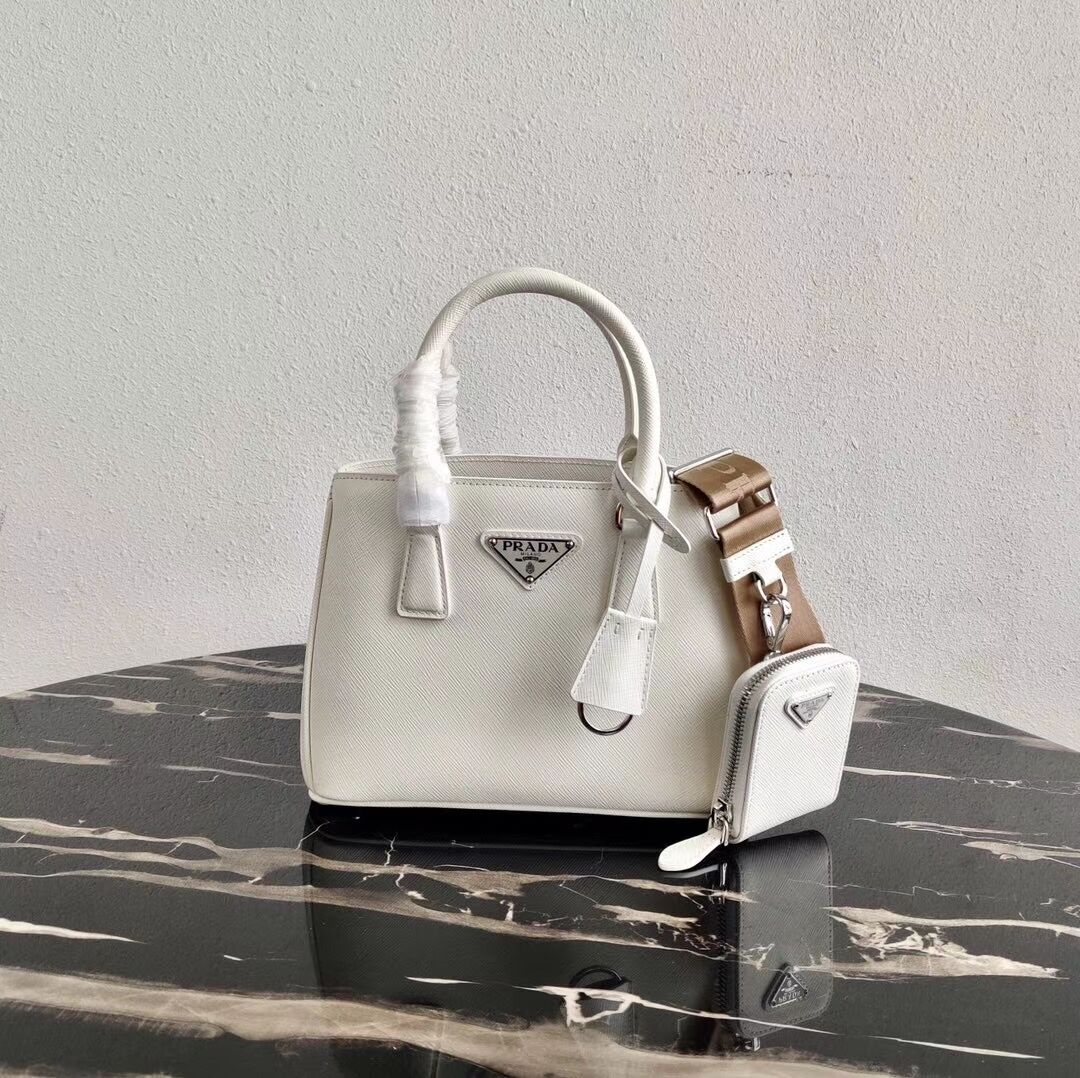 Prada Saffiano leather mini-bag 1BA296 White