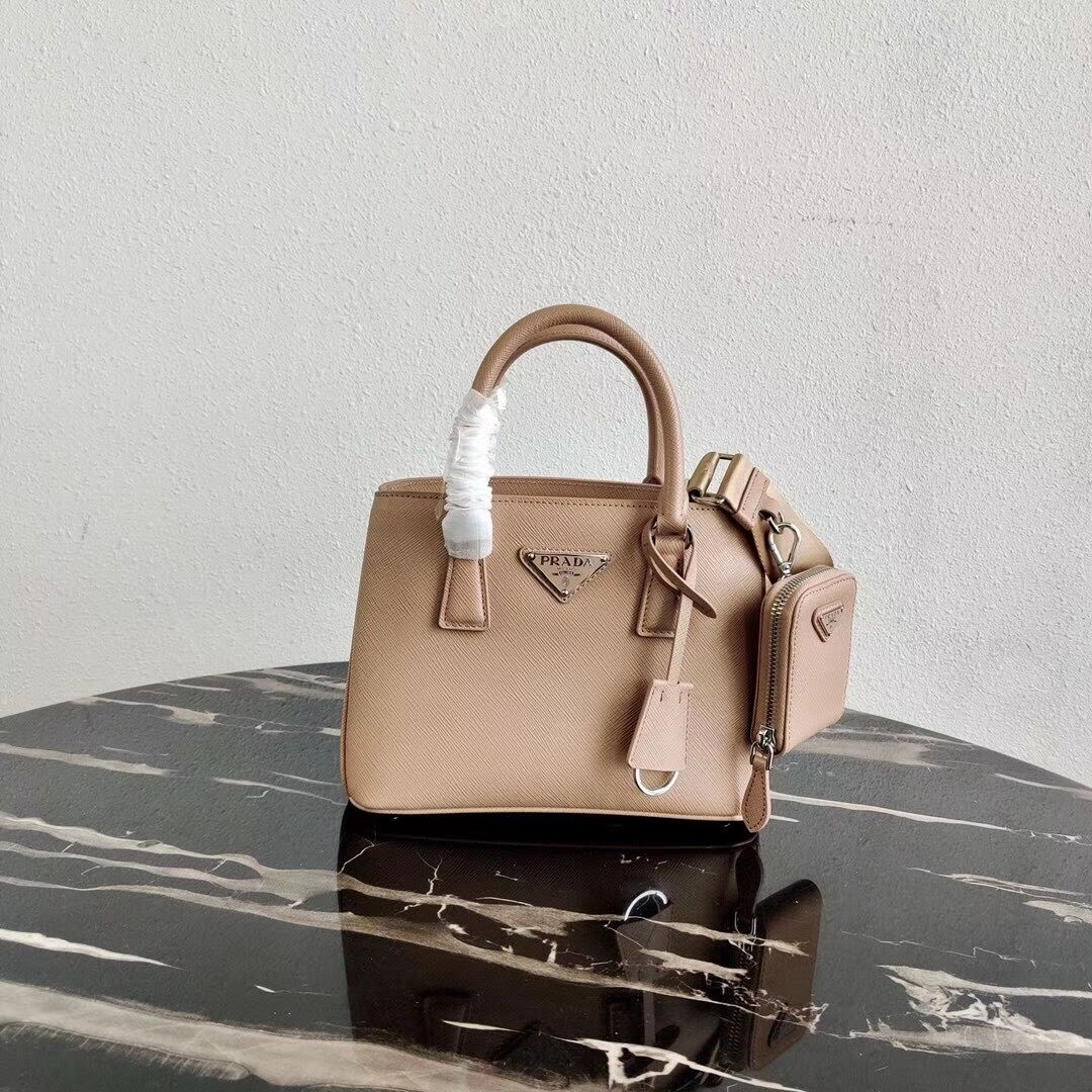 Prada Saffiano leather mini-bag 1BA296 pink