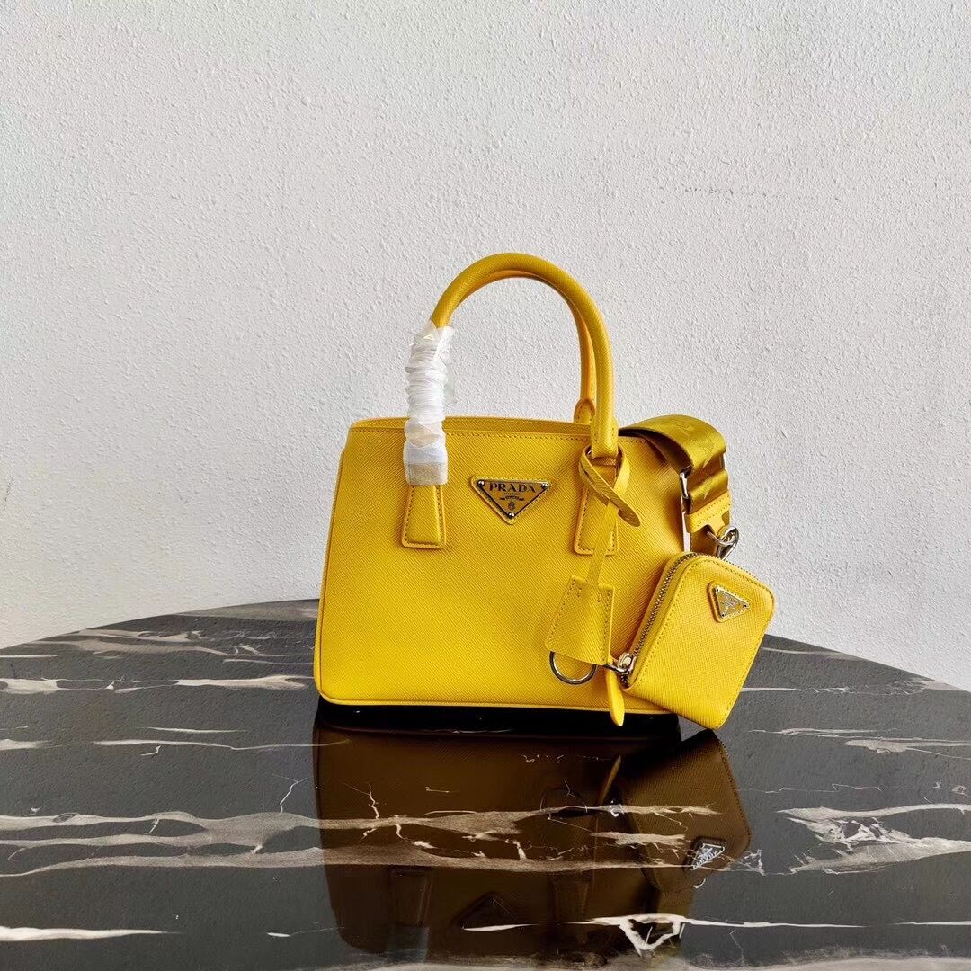 Prada Saffiano leather mini-bag 1BA296 yellow