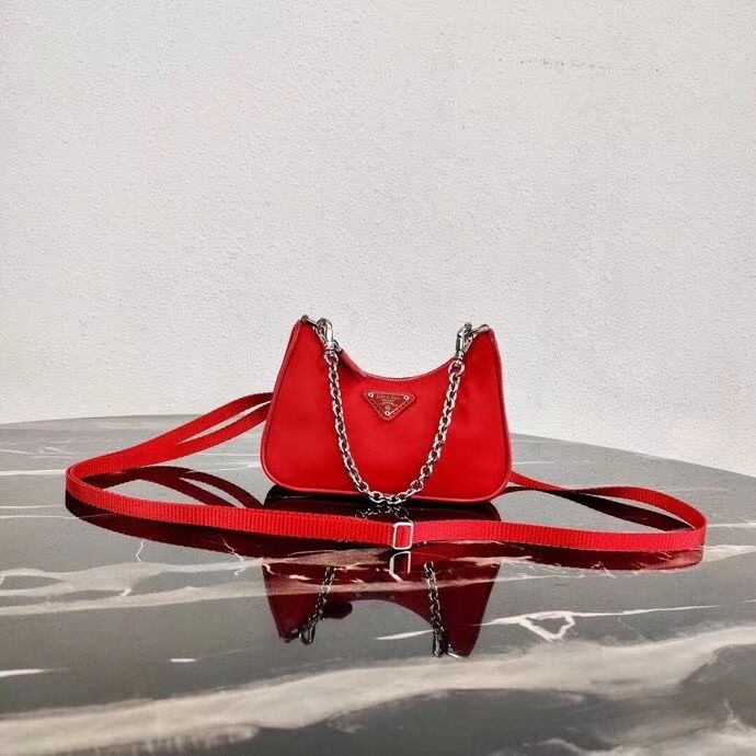 Prada Re-Edition nylon mini shoulder bag 1TT122 red