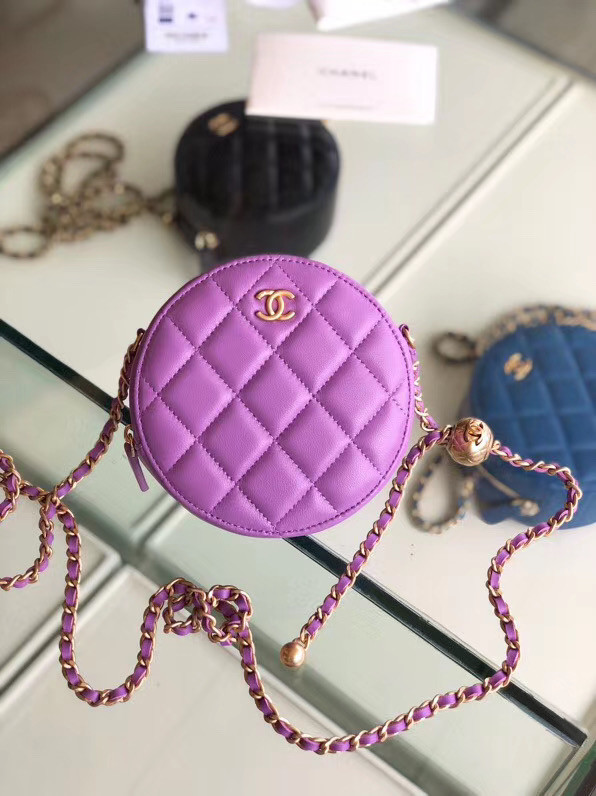 Chanel Original mini Sheepskin bag AS1449 Lavender
