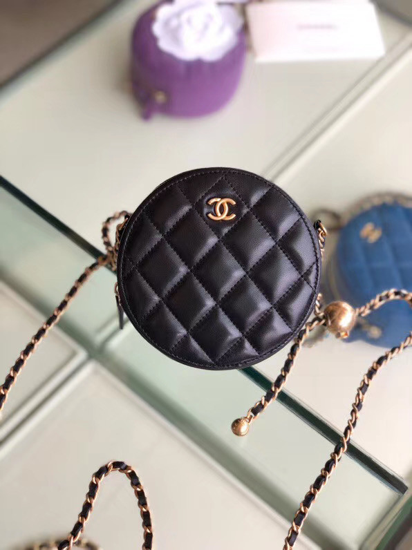 Chanel Original mini Sheepskin bag AS1449 black