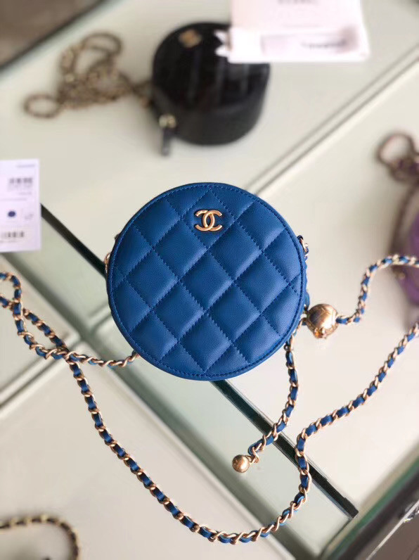 Chanel Original mini Sheepskin bag AS1449 blue