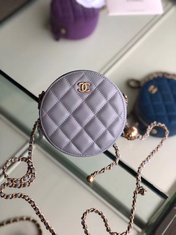 Chanel Original mini Sheepskin bag AS1449 grey