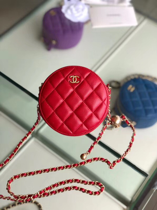 Chanel Original mini Sheepskin bag AS1449 red