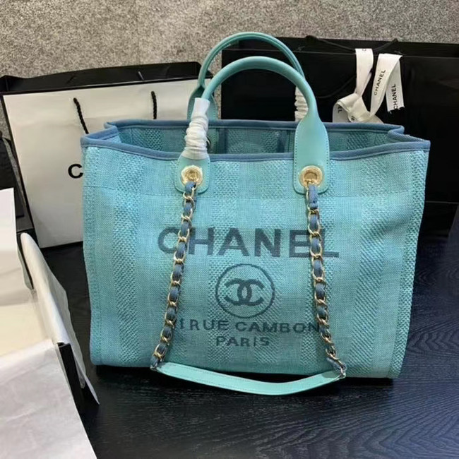 Chanel Shopping bag A66941 sky blue