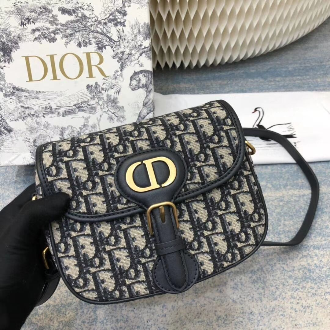 SMALL DIOR BOBBY BAG Blue Dior Oblique Jacquard M9317