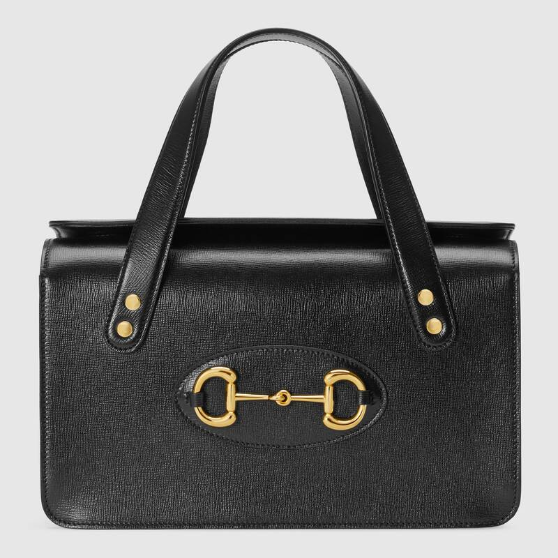Gucci Horsebit 1955 small top handle bag 627323 black