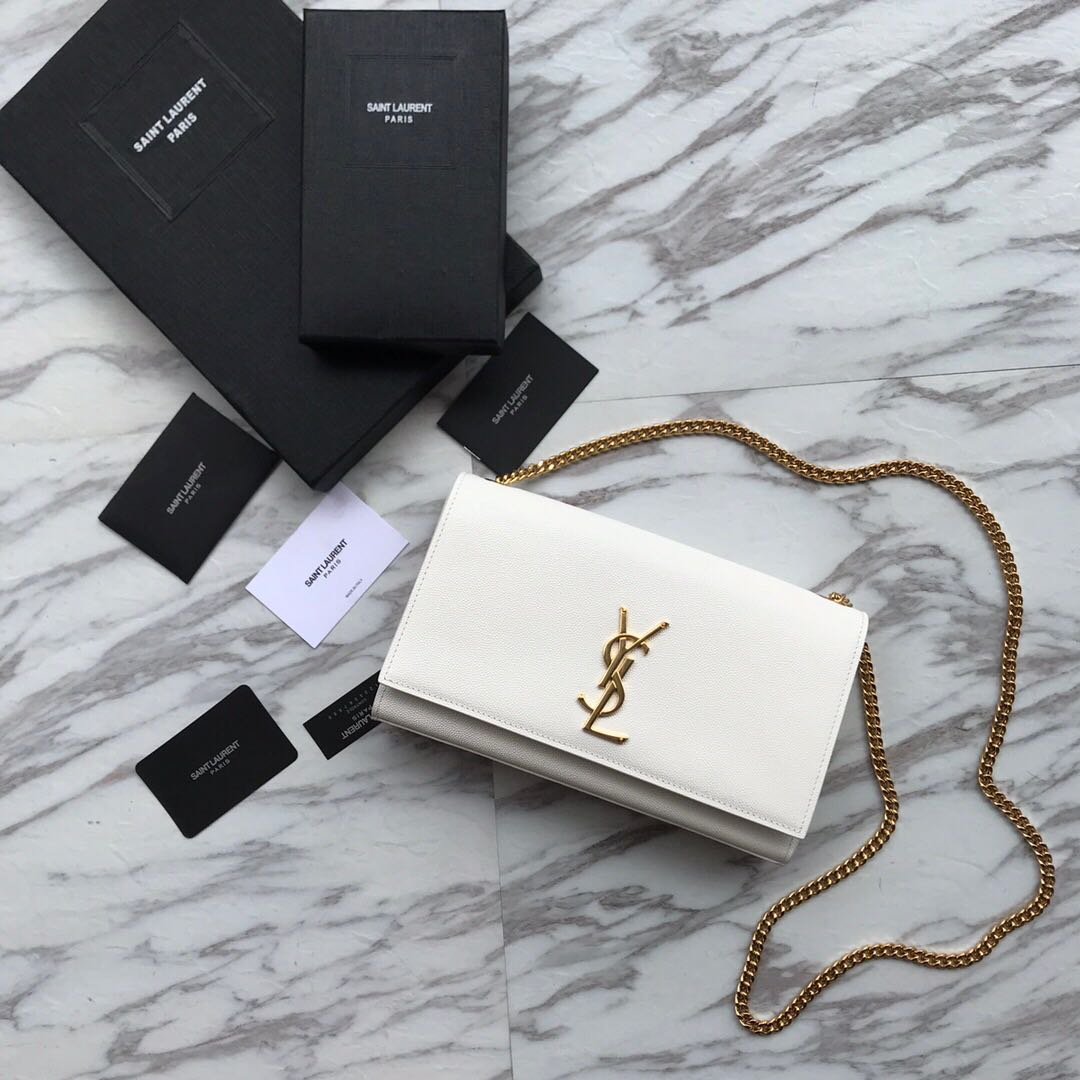 Saint Laurent mini Monogramme Cross-body Shoulder Bag 326076 white