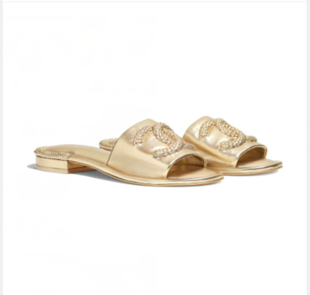 Chanel Slipper CC3695 Gold