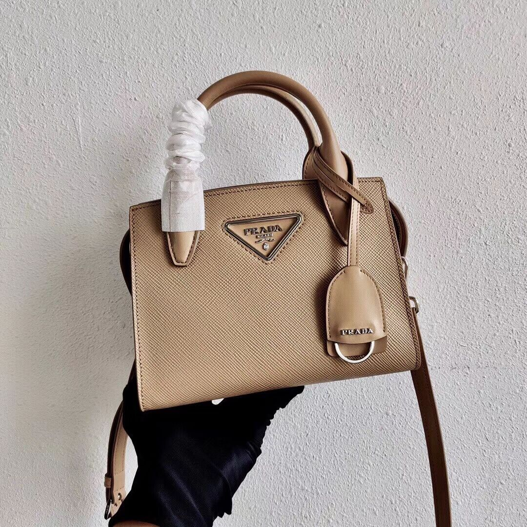 Prada Saffiano leather mini-bag 2BA269 apricot