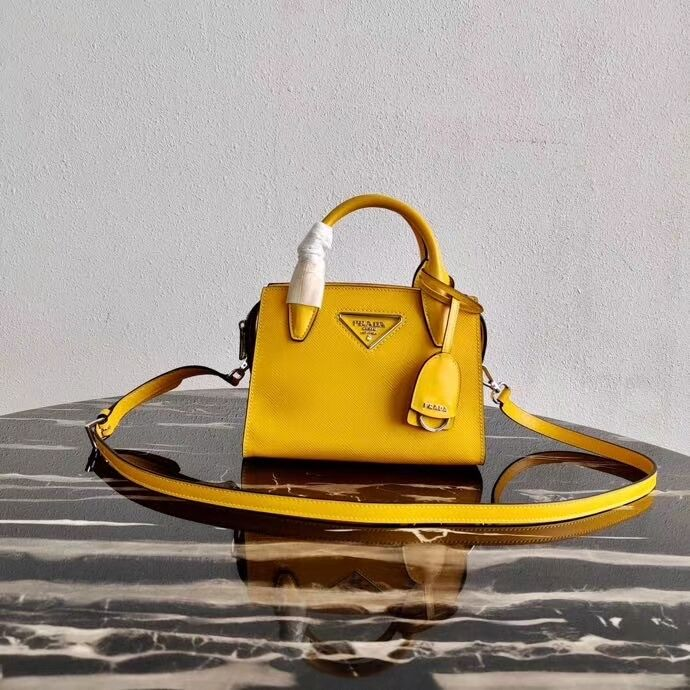 Prada Saffiano leather mini-bag 2BA269 yellow