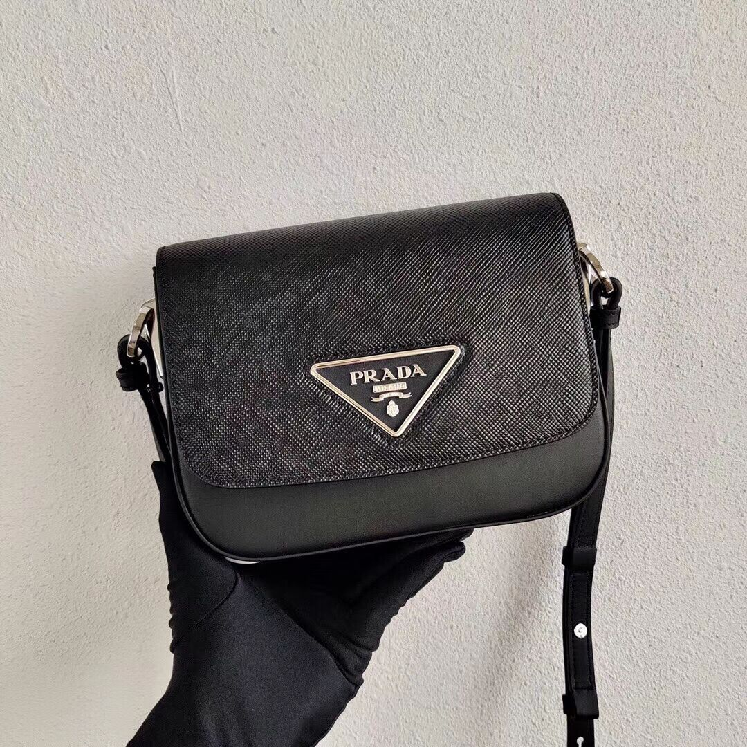 Prada Saffiano leather mini shoulder bag 2BD249 black