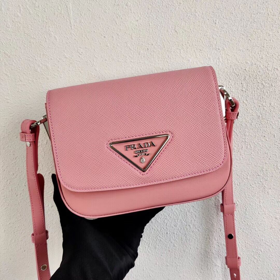 Prada Saffiano leather mini shoulder bag 2BD249 pink