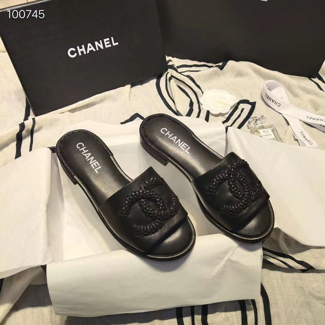 Chanel Slipper CC3695 Black