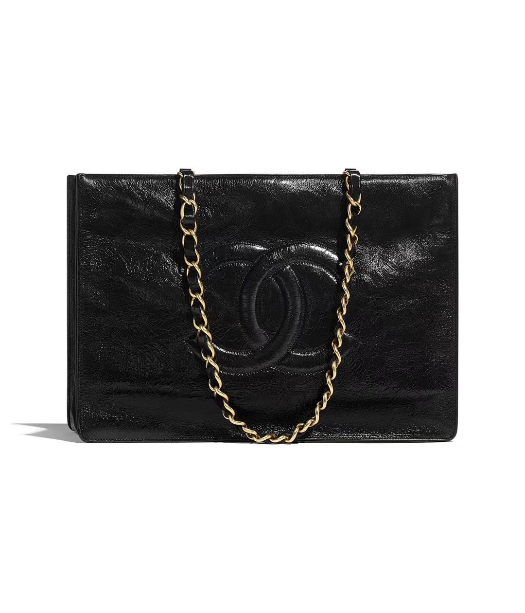 Chanel Original Leather Tote Shopping Bag AS1943 Black