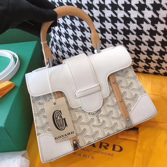 Goyard mini saigon tote bag 55632 white