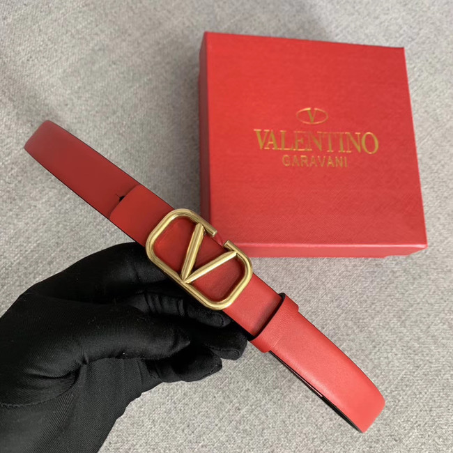 Valentino Leather Belt wide 2.0CM 3599 red