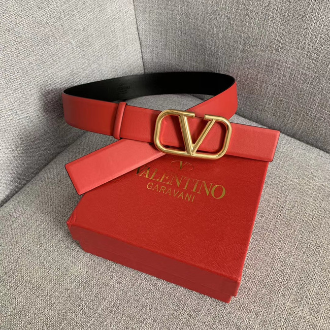 Valentino Leather Belt wide 4.0CM 3598 red