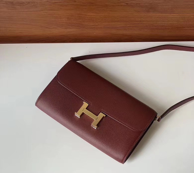 Hermes Constance to go mini Bag H4088 Burgundy