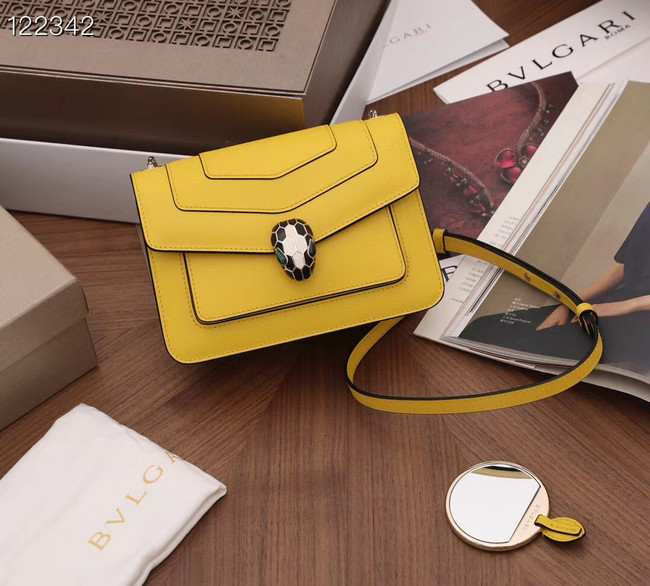 Bvlgari Serpenti Forever leather small crossbody bag 20287 yellow