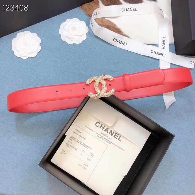 Chanel Original Calf Leather 3602 red&gold