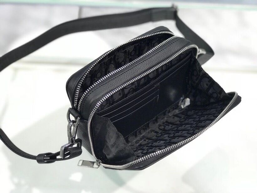 Black Grained Calfskin with DIOR C1911