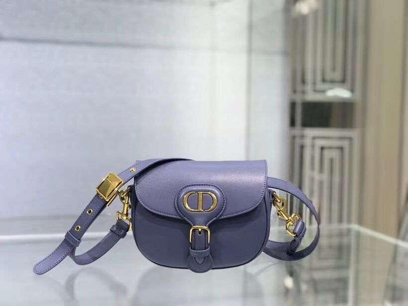 SMALL DIOR BOBBY BAG Gray Box Calfskin Gray Box Calfskin M9317 blue