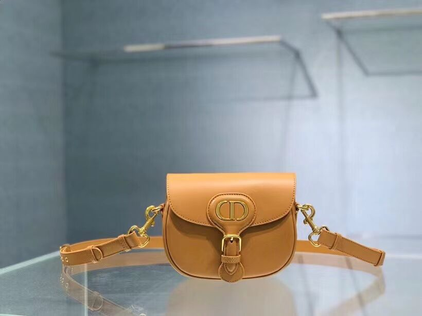 SMALL DIOR BOBBY BAG Gray Box Calfskin Gray Box Calfskin M9317 yellow