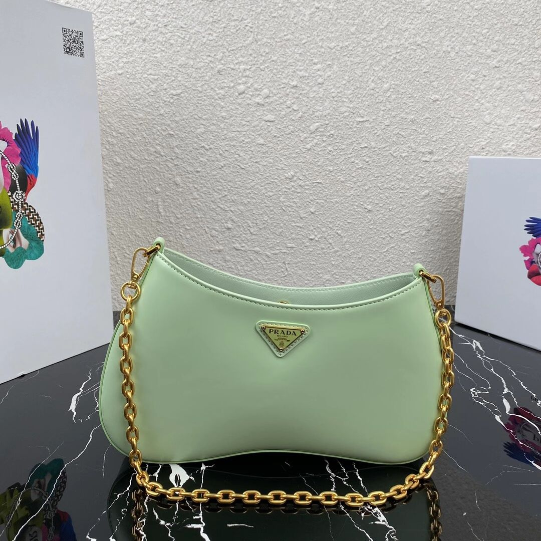 Prada Saffiano leather shoulder bag 2BC148 green