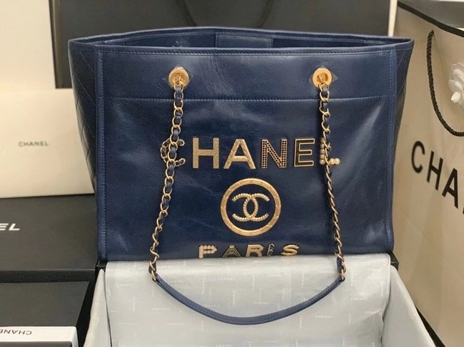 Chanel shopping bag A67001 Royal Blue