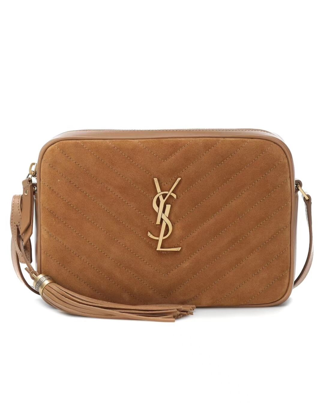Yves Saint Laurent IN SUEDE AND SMOOTH LEATHER Y520534E Brown