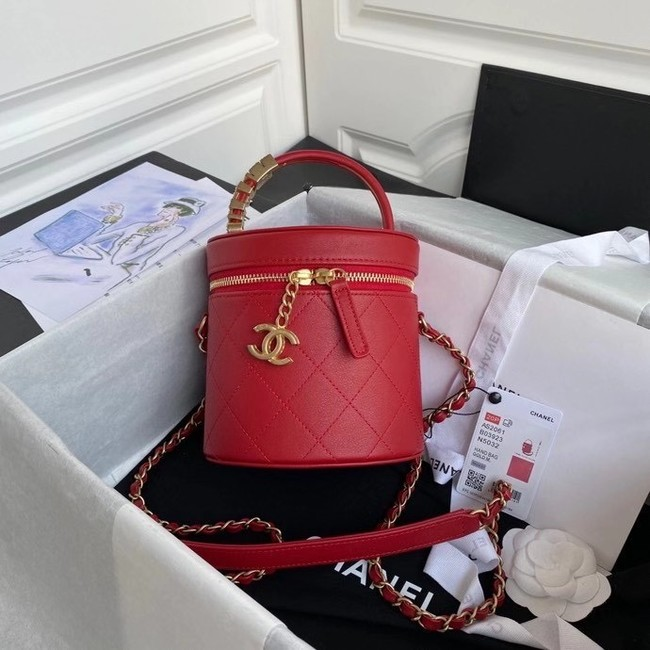 Chanel vanity case AS2061 red