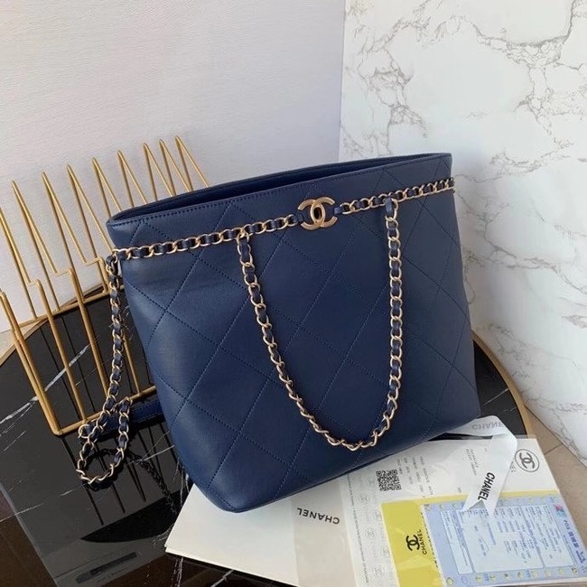 Chanel shopping bag AS2556 Navy Blue