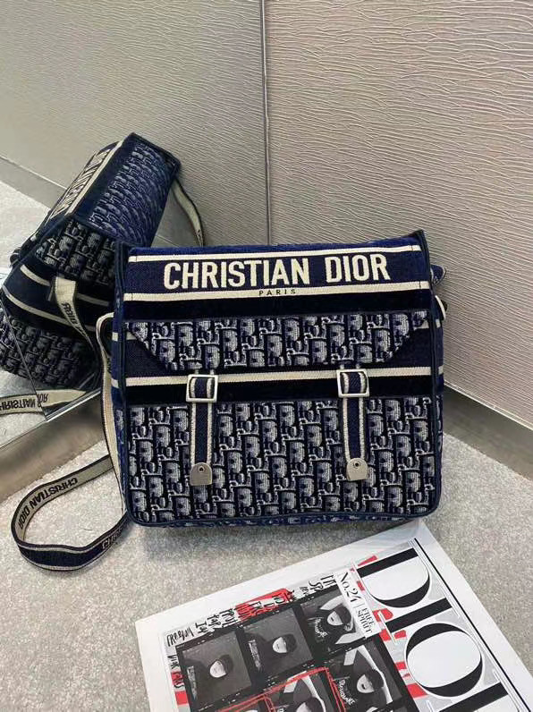 Dior Oblique Embroidery DIORCAMP BAG M1291 Blue