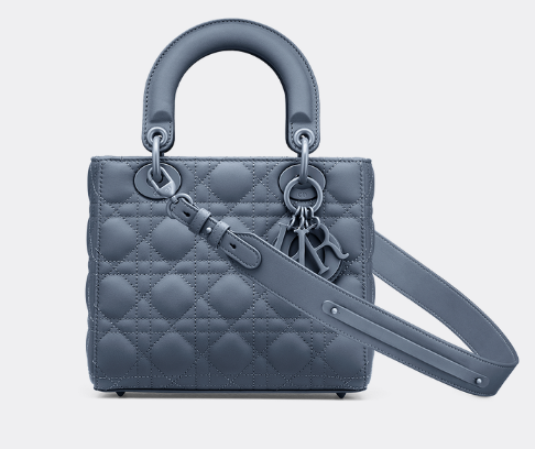 LADY DIOR MY ABCDIOR BAG Dark Denim Blue Ultramatte Cannage Calfskin M0538SLOI