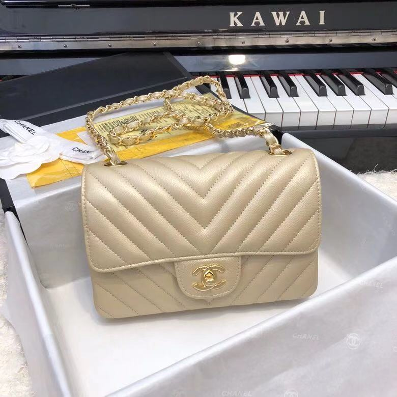 Chanel 2.55 Series Flap Bag Leather A1116CF gold