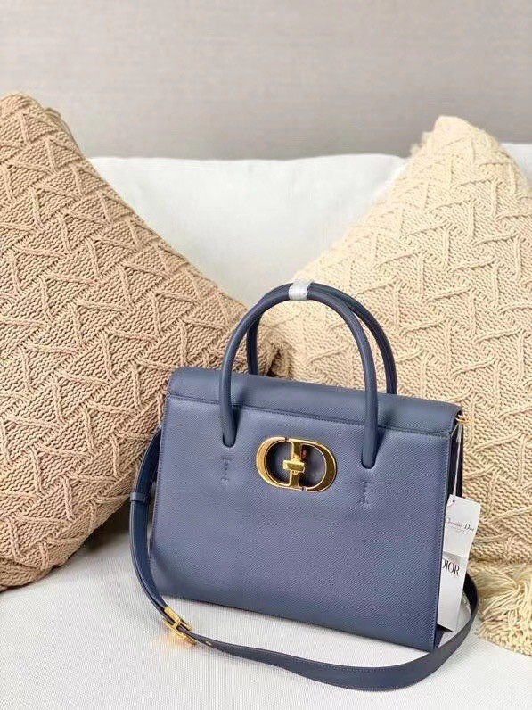 DIOR MEDIUM ST HONORE TOTE Grained Calfskin M9321UMBA blue