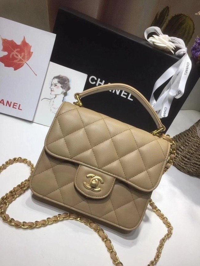 Chanel small tote bag 8817 Khaki