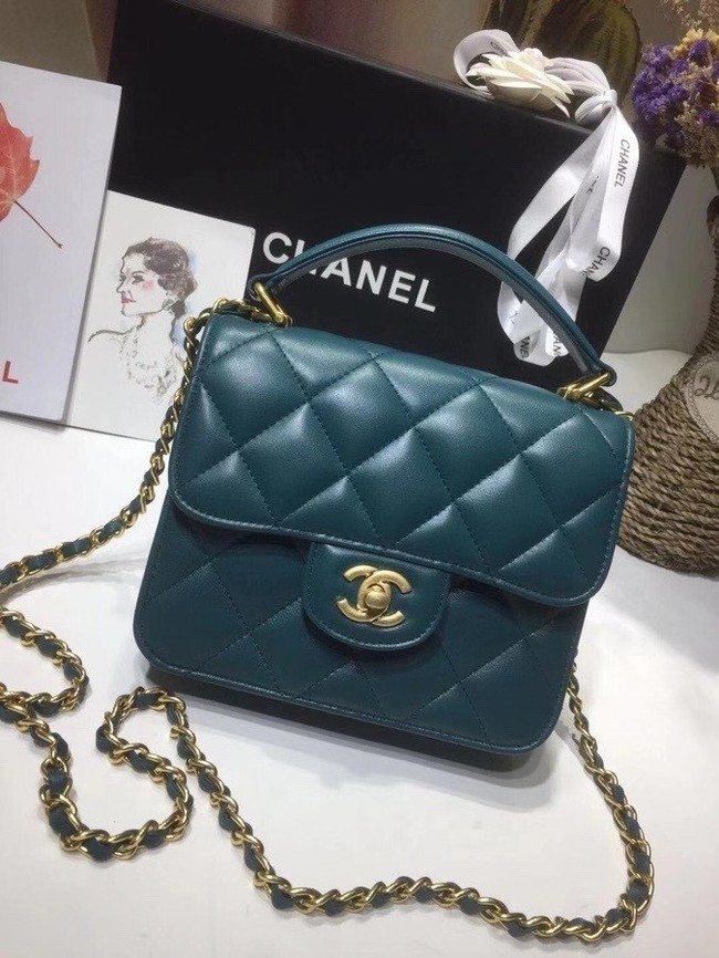 Chanel small tote bag 8817 blue