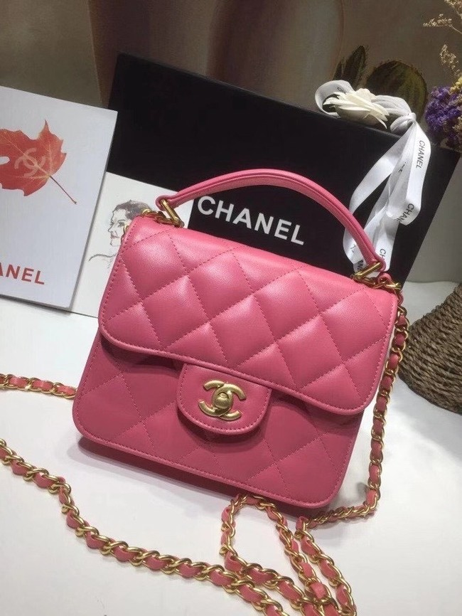 Chanel small tote bag 8817 pink