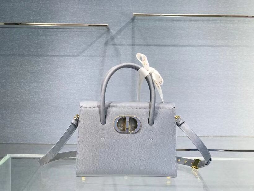 DIOR MEDIUM ST HONORE TOTE Grained Calfskin M9321UMBA sky blue